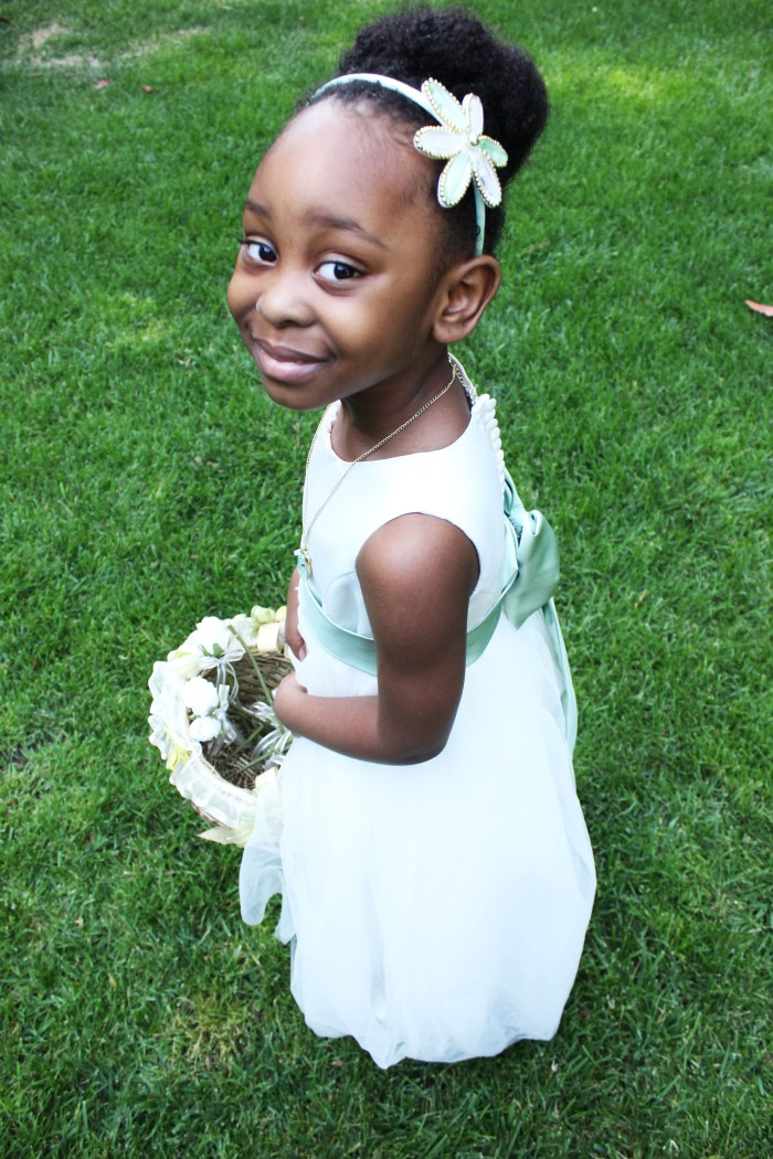 Flower Girl at Fern Grove